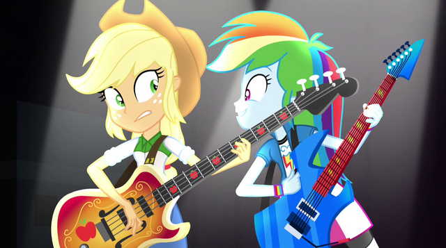 File:Rainbow Dash singing next to Applejack EG2.png