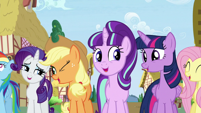 """File:Starlight and main cast sings """"Everywhere you go"""" S5E26.png"""