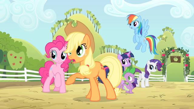 File:Applejack 'Have you lost your pest-lovin' mind' S4E07.png