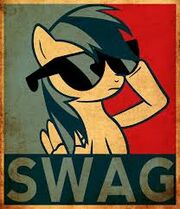 FANMADE Rainbow Dash SWAG poster