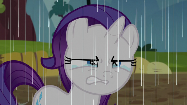 File:Filly Rarity scowling and crying in the rain S6E14.png