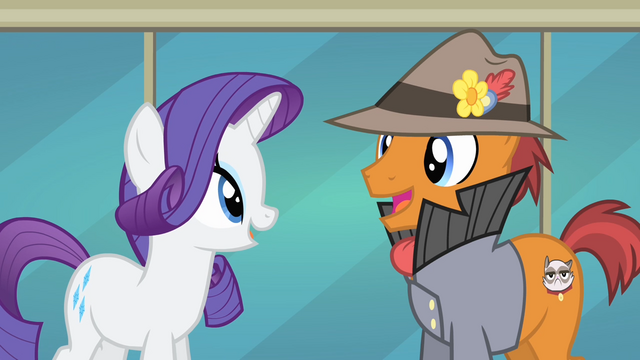 File:Pony with Grumpy Cat cutie mark happy S4E08.png