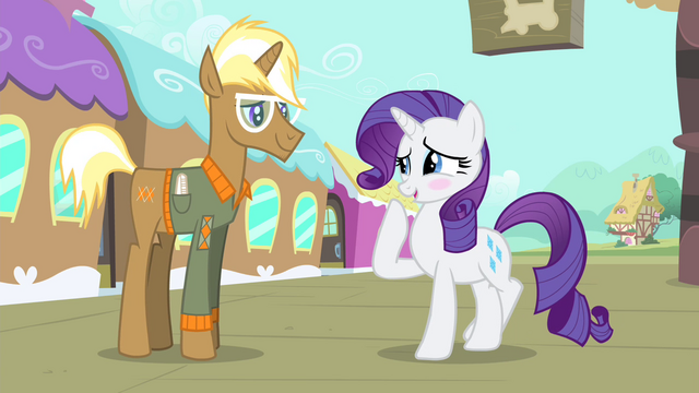 File:Rarity blushes while laughing nervously S4E13.png