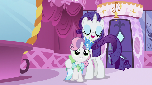 "File:Sweetie Belle is Rarity's ""plus-one"" S5E7.png"