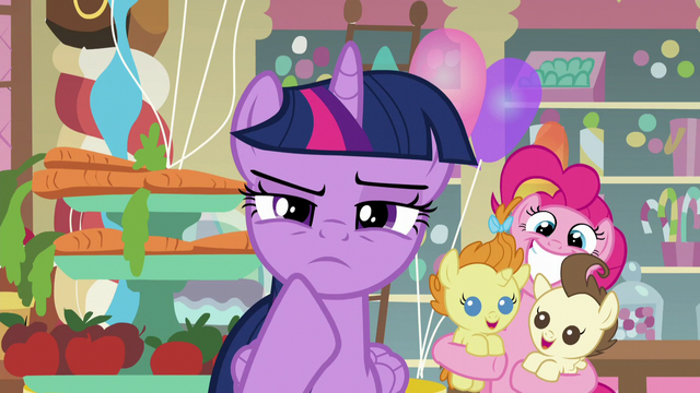 File:Pinkie holding Pound and Pumpkin behind Twilight S5E19.png