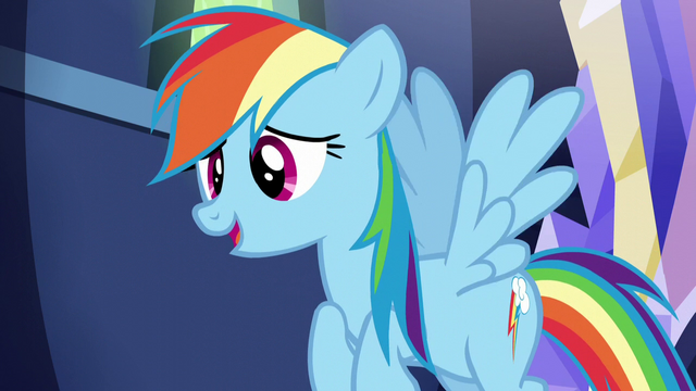 """File:Rainbow """"not try to make us recreate everything"""" S5E22.png"""