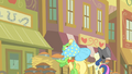 Sweetie Drops and another pony look up at the clock tower S1E21.png