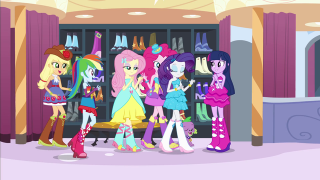 File:Twilight's friends walk towards her EG.png