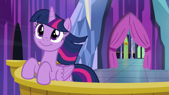 File:Twilight Sparkle on the castle balcony S6E1.png