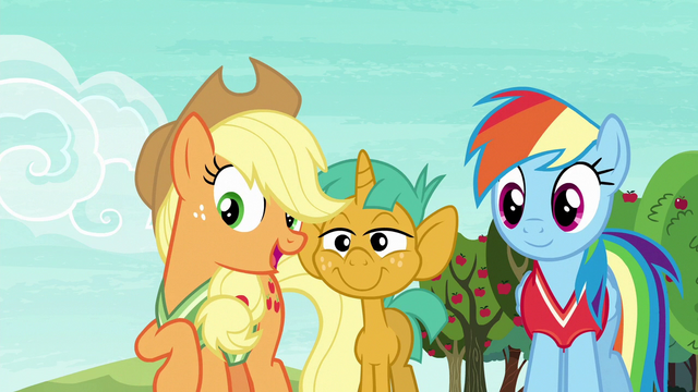 "File:Applejack ""you two are really good at this game"" S6E18.png"