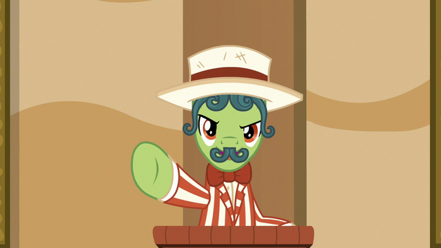 """File:Barker pony """"you didn't see it sooner!"""" S6E20.png"""