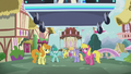 DJ station speeds toward other ponies S5E9.png