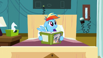 Rainbow Dash hears someone coming S2E16