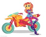 Friendship Games Sunset Shimmer Sporty Style artwork