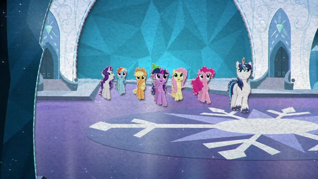 File:Shining Armor and Mane Six arrive to Crystal Empire BFHHS5.png