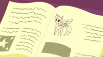 Twilight as a book drawing S5E12