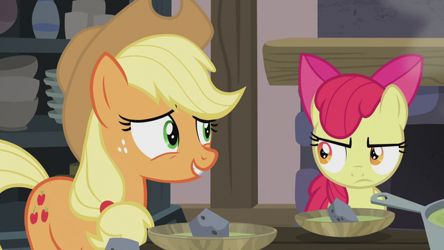 "File:Applejack ""this IS what we were expectin'!"" S5E20.png"