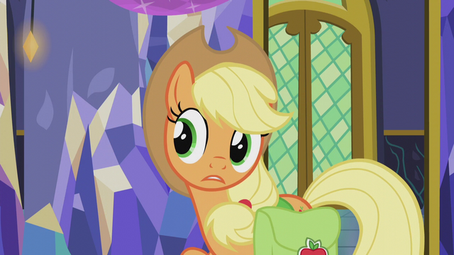 "File:Applejack ""tonight is Hearth's Warming EVE"" S5E20.png"