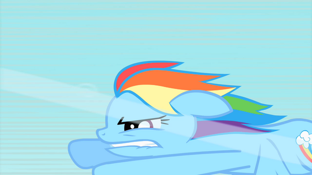 File:Rainbow Dash biting her lip while flying S1E16.png