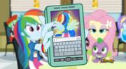 Rainbow Dash showing Twilight her transformation EG2