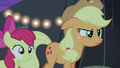 Applejack looks at Silver Shill angrily S4E20.png