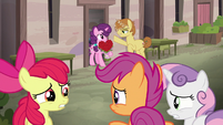 Cutie Mark Crusaders worried about Big Mac's crush S7E8