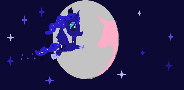 File:FANMADE Princess Luna and the moon.png