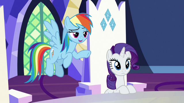 "File:Rainbow Dash ""nopony says that"" S7E11.png"