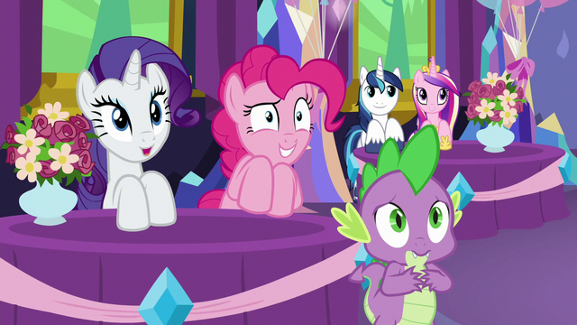 File:Rarity, Pinkie, and Spike feel less awkward S7E1.png