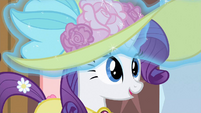 Rarity happy gasp S2E9