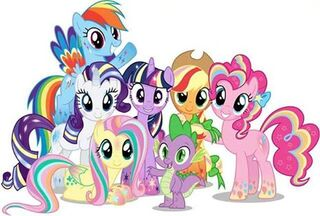 FANMADE Rainbow Power Mane Six and Spike