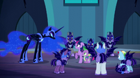 Nightmare Moon looks at Twilight and Spike S5E26