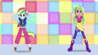 Rainbow Dash and Lemon Zest hip-hop dancing EGS1