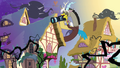 Discord takes pictures of Ponyville S4E01.png