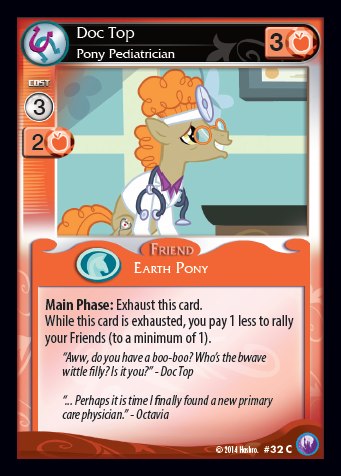 File:Doc Top, Pony Pediatrician card MLP CCG.png