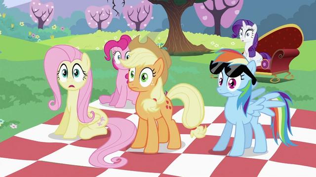 File:Twilight Sparkle's friends surprised S2E03.png