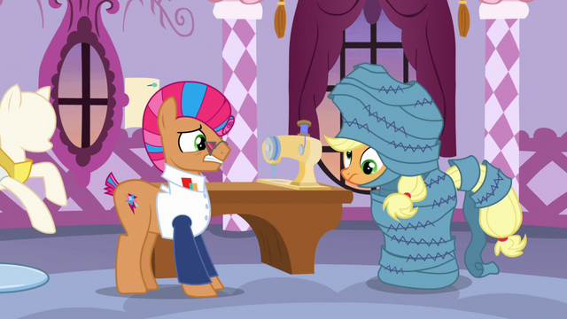 File:Applejack dizzy and wrapped in fabric S7E9.png