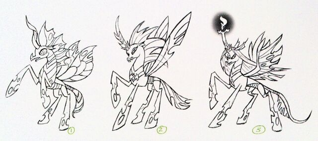 File:Art of Equestria page 100 - Queen Chrysalis concept art.jpg