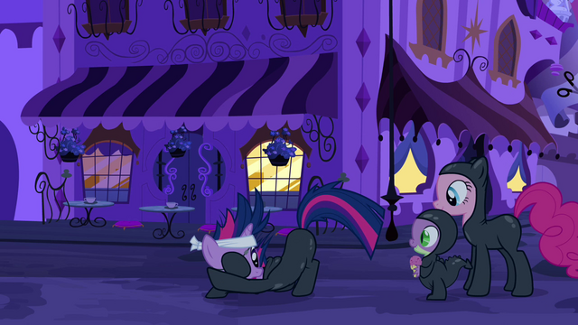 File:Twilight discretely talking to Pinkie and Spike S2E20.png
