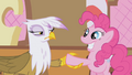 Gilda & Pinkie about to shake hands S1E05.png