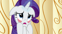 Rarity pulling on her own face S6E10
