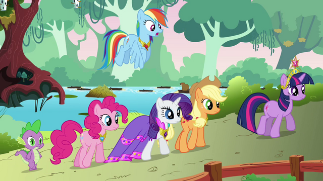 File:The ponies walking to dinner S03E10.png