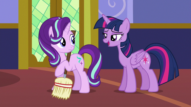 """File:Twilight Sparkle """"didn't I see you sewing with Rarity?"""" S6E21.png"""