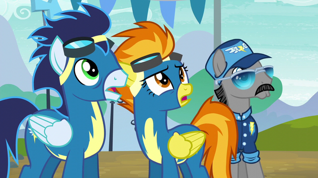 File:Soarin, Spitfire, and Whiplash surprised S6E7.png