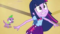 "Twilight and Spike hear ""incoming!"" EG"