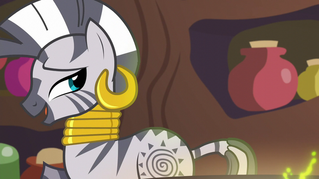 "File:Zecora ""something that we must block"" S5E22.png"