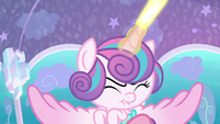 Flurry Heart shooting beams of magic S6E1
