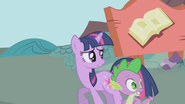 File:Twilight and Spike trying to get away S1E03.png
