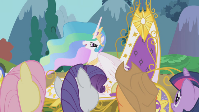 File:Twilight and friends bid farewell to Celestia S1E10.png