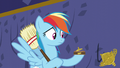 A piece of Rainbow's trophy falls out S5E11.png